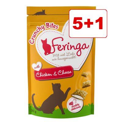 Feringa Crunchy Bites kissanherkut 6 x 30 g: 5 + 1 kaupan päälle! - nauta