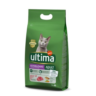 Ultima Cat Sterilized Beef - 2 x 3 kg