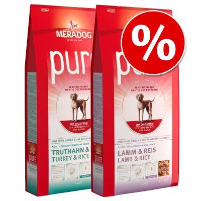 Meradog Pure -säästösekoitus 2 x 12,5 kg erikoishintaan! - mix: Turkey & Rice + Salmon & Rice