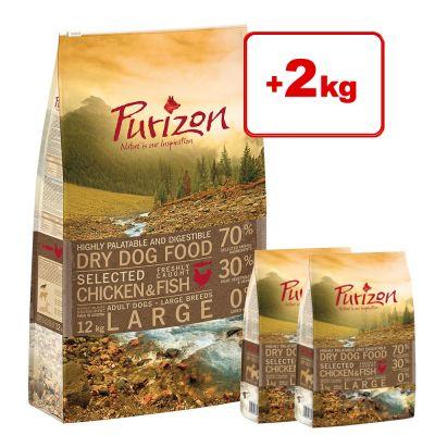 12 kg + 2 kg kaupan päälle! Purizon-kuivaruoka koirille - Adult Venison & Rabbit