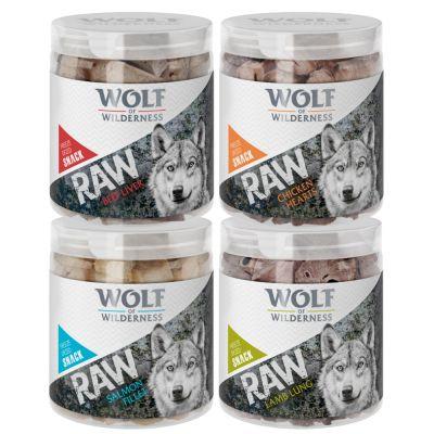 Výhodné balení Wolf of Wilderness - RAW snack (mrazem sušený) - NOVINKA: kuřecí filet, malé kostky (240 g)