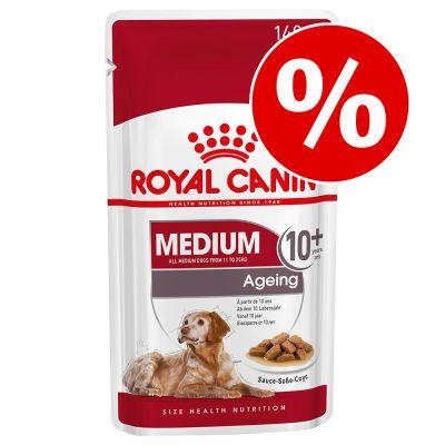 Royal Canin märkäruoka koirille: 2 pussia kaupan päälle! - Medium Adult 10 x 140 g, 8 + 2