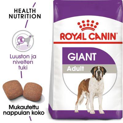 Royal Canin Giant Adult - 15 kg + 3 kg kaupan päälle!