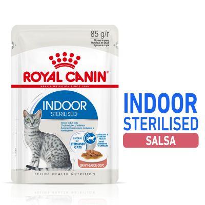 Royal Canin Indoor Sterilised en salsa - 12 x 85 g