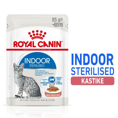 Royal Canin Indoor Sterilised in Gravy - 24 x 85 g