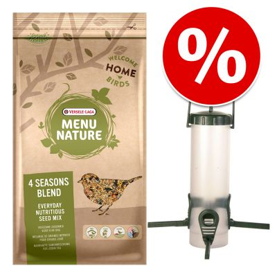 Paketti: Trixie-ruokintateline + 4 kg Versele Laga Menu Nature -linnunruokaa – setti: 2-osainen