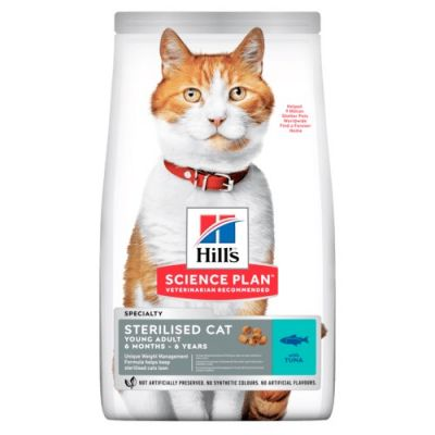 10kg Young Adult Sterilised Tuna Hill's Science Plan Dry Cat Food