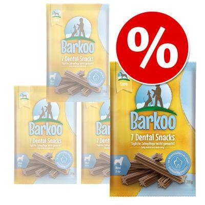 Säästöpakkaus: Barkoo Dental Snacks - keskikokoisille 56 kpl