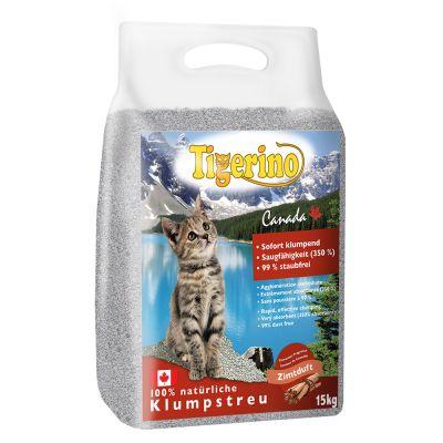 Tigerino Canada Cat Litter - Cinnamon Scented - Economy Pack: 2 X 15kg