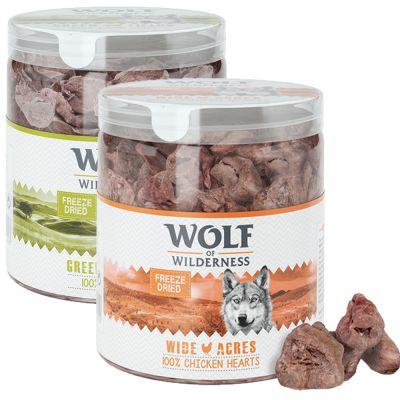 2 Sorten Wolf of Wilderness - Gefriergetrocknete Premium-Snacks