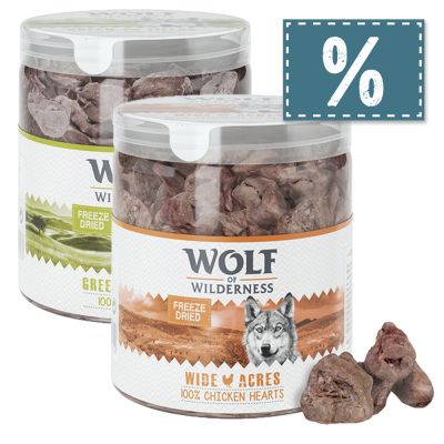 2 Sorten Wolf of Wilderness - Gefriergetrocknete Premium-Snacks