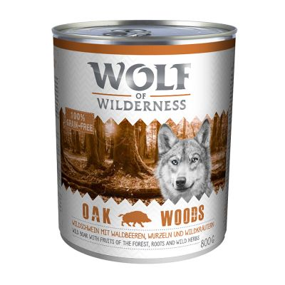 Wolf of Wilderness 6 x 800 g - Strong Lands - sika