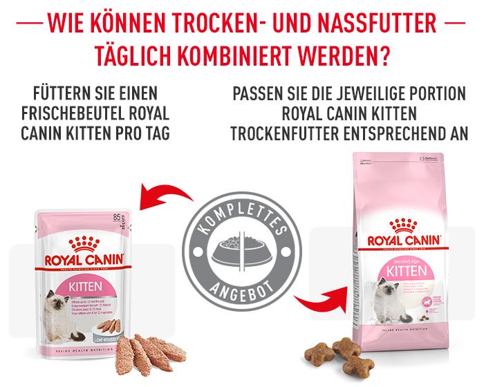 Mischfütterung Royal Canin Second Age Kitten Trockenfutter