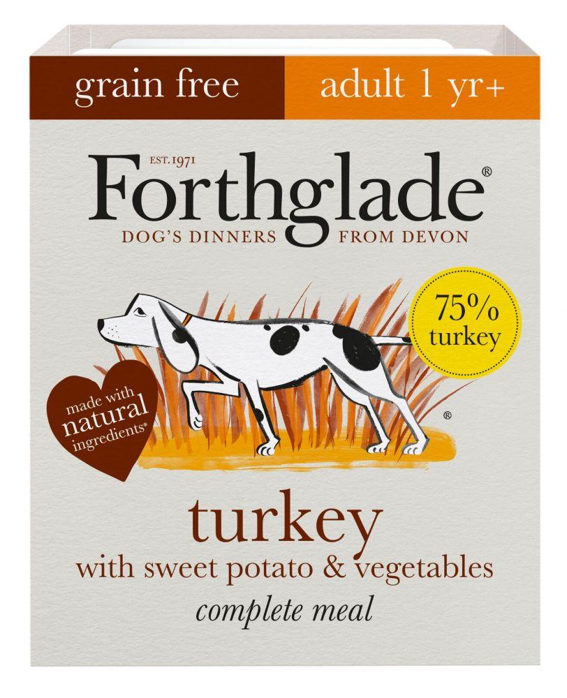 Forthglade Complete Meal Grain Free Adult Dog - Turkey - 18 x 395g