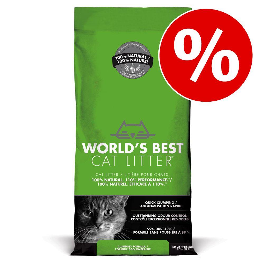 20 % rabatt på World's Best Cat Litter kattsand! - 12,7 kg Cat Litter Extra Strength