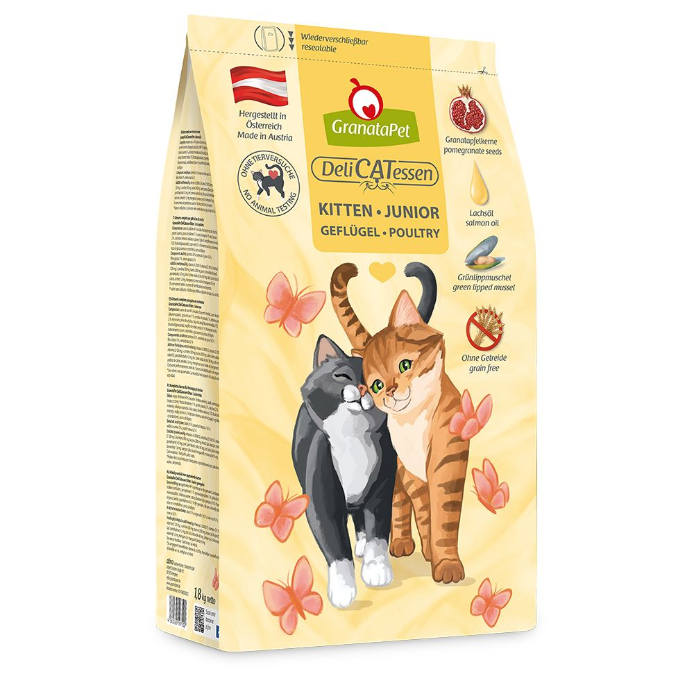 GranataPet DeliCatessen Kitten Fjäderfä 9 kg*