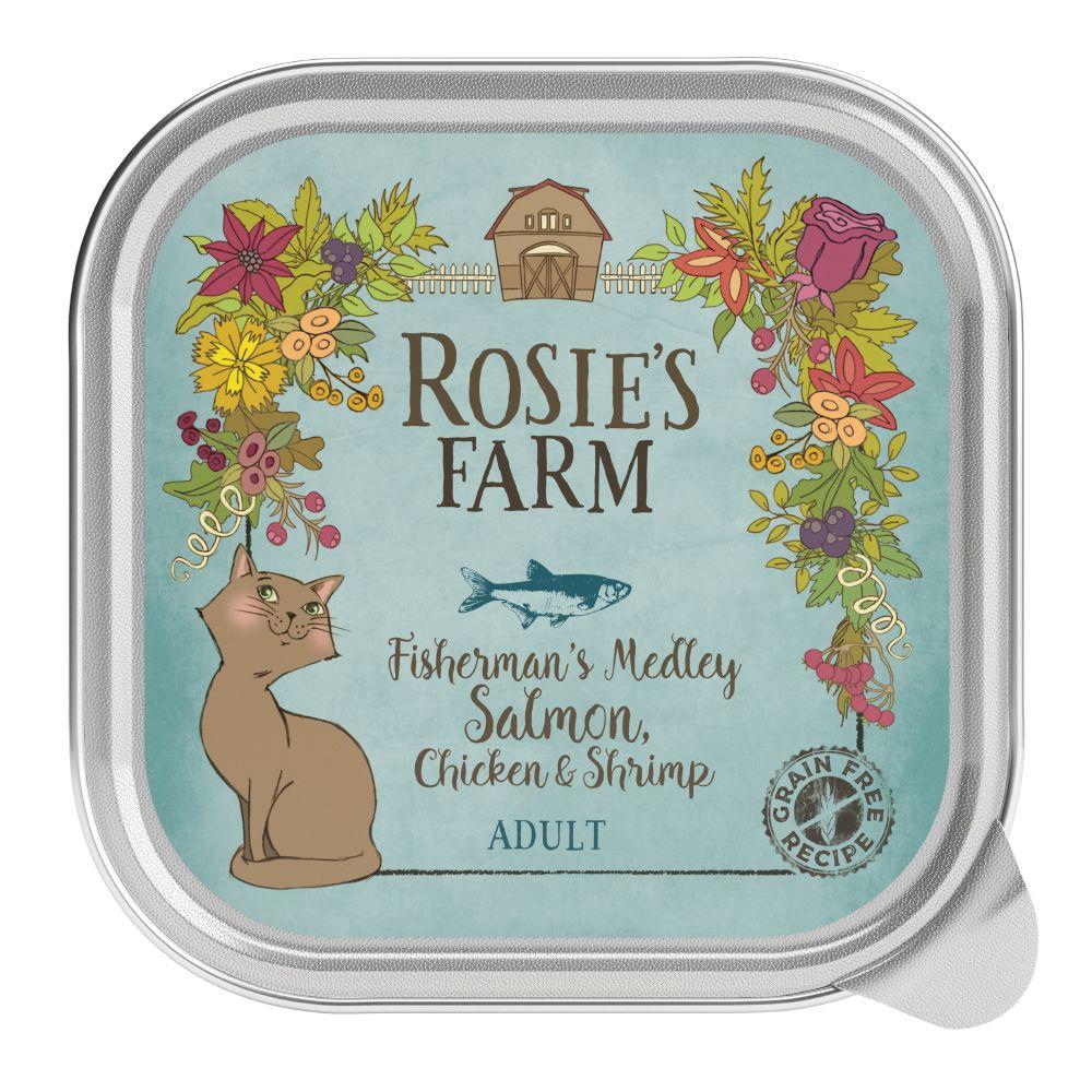 48x100g Salmon, Chicken & Shrimp Adult Wet Cat Food Rosie's Farm