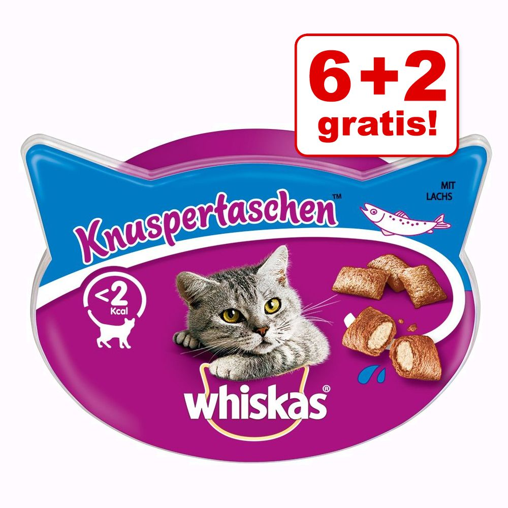 6 + 2 på köpet! 8 x Whiskas kattgodis - Temptations: Nötkött (8 x 60 g)