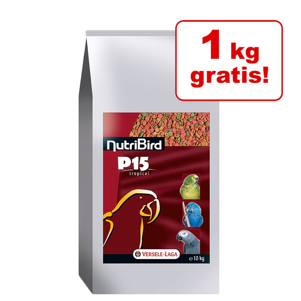 9 + 1 kg gratis! 10 kg Versele-Laga Nutribird P15 Tropical - 10 kg