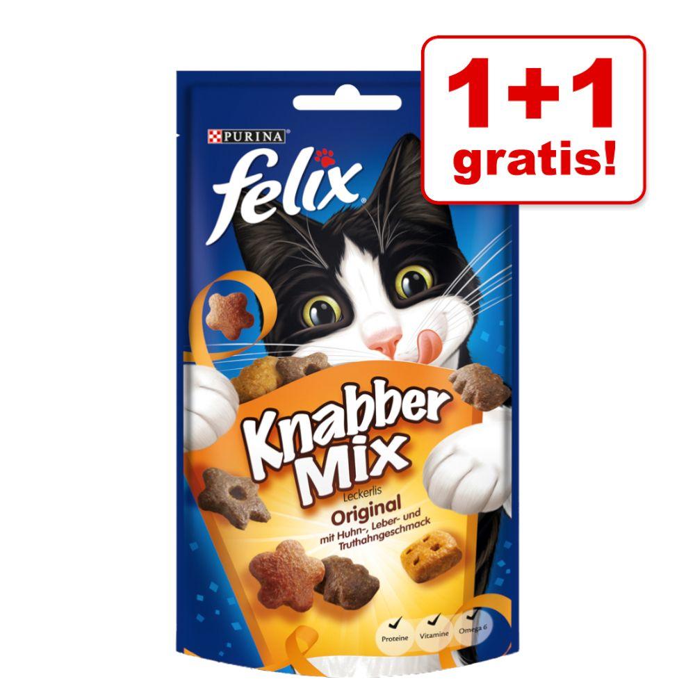 1 + 1 gratis! 2 x 60 g Felix KnabberMix - Strandspaß