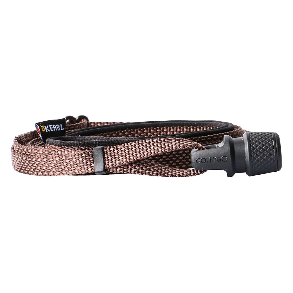 GOLEYGO Flat Dog Lead Brown - by Kerbl Size S: 140 - 200cm long, 10mm wide