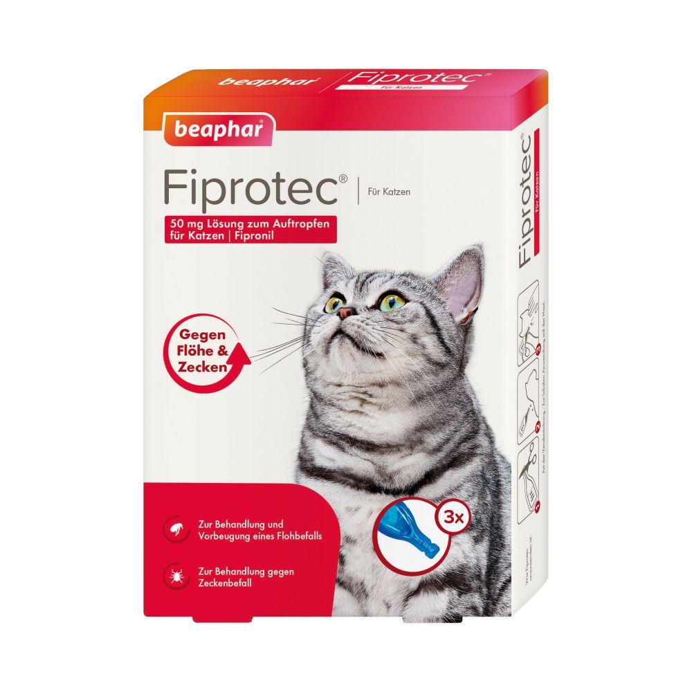 beaphar Fiprotec® Spot-on Katze - 3 Pipetten x 0,5 ml
