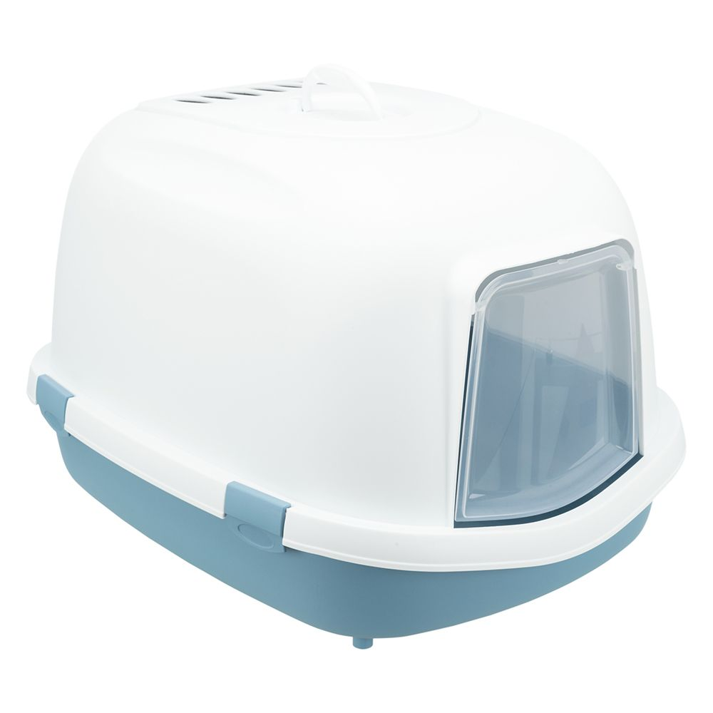 Trixie Katzentoilette Primo XXL Top mit Haube -  blau/weiß