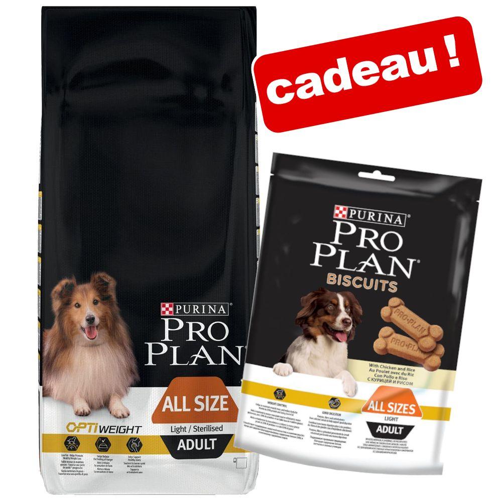 Croquettes PURINA PRO PLAN 14 kg + biscuits light 400 g en cadeau ! - Large Athletic Adult poulet