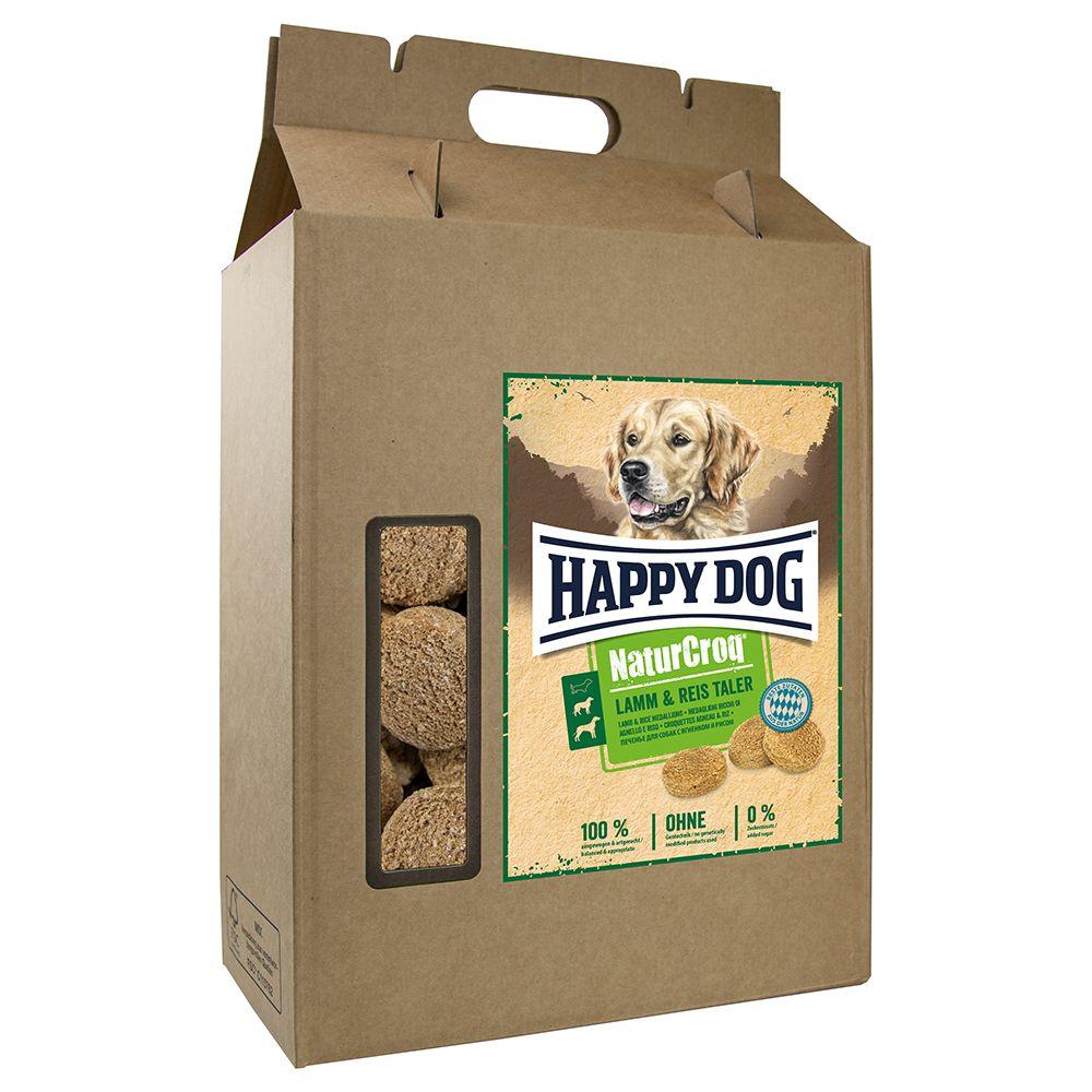 Knusprig und einfach lecker: Die Happy Dog NaturCroq Lamm und Reis Taler eignen sich perfekt als leicht verdauliche Snacks für Ihren Hund und verwöhnen Ihren Liebling nicht nur mit einem tollen Geschmack, sondern auch mit einer ausgewogenen und artgerechten Rezeptur. Die Snack...