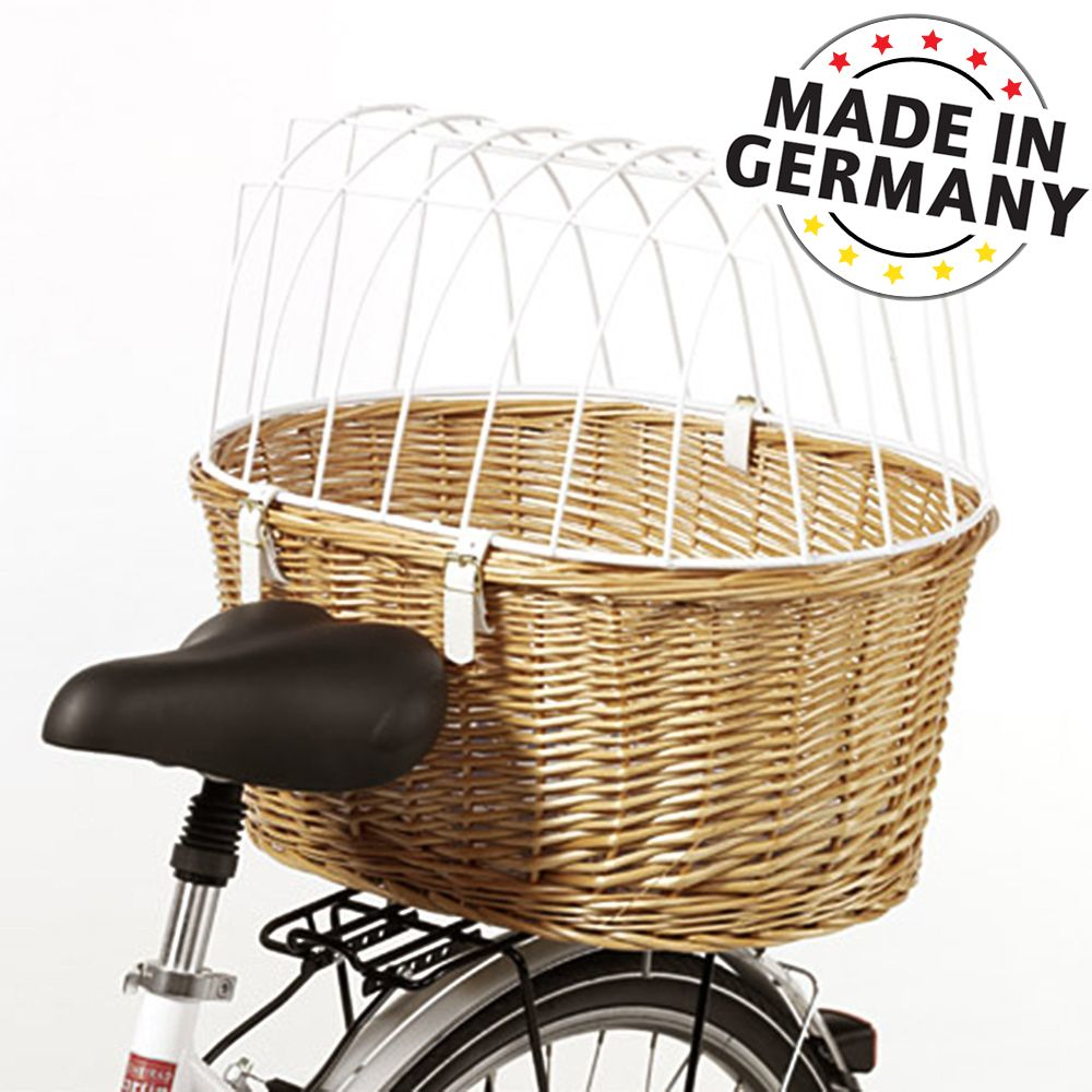 Aumüller Hunde-Fahrradkorb mit Schutzgitter - ca. L 53 x B  35 x H 43