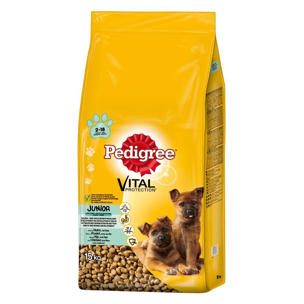 Pedigree Junior Maxi mit Huhn & Reis Trockenfutter für Hunde - 15 kg