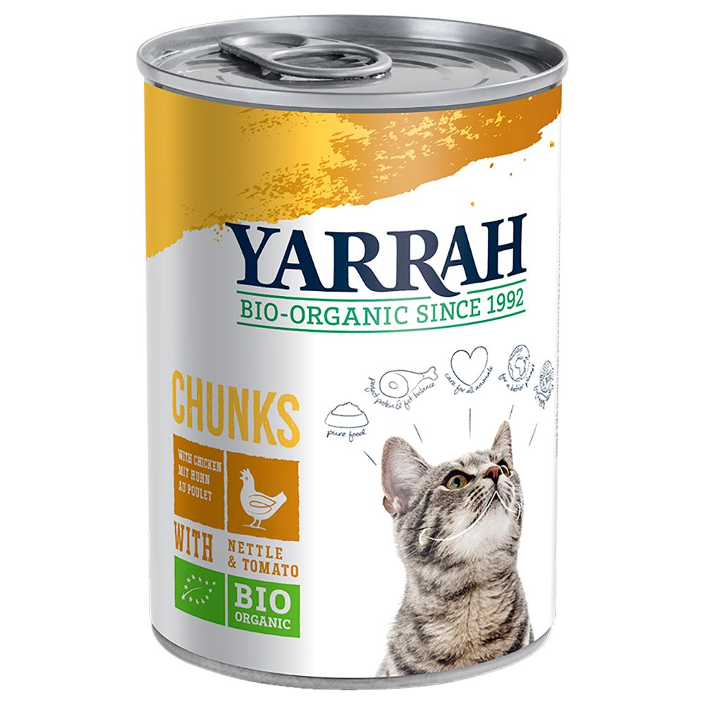 Chicken & Tomato in Sauce Yarrah Organic Chunks Wet Cat Food