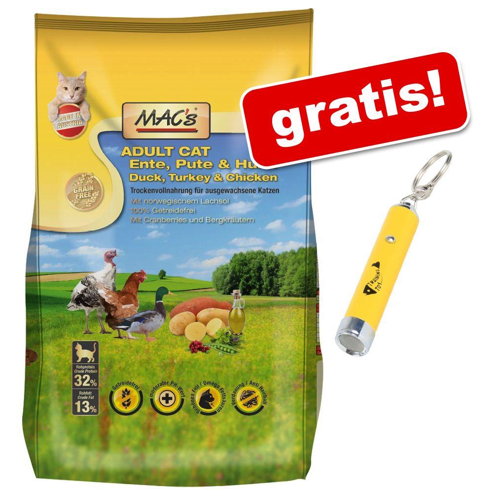 Foto 7 kg MAC's Cat + Puntatore LED gratis! - Adult Anatra, Tacchino & Pollo