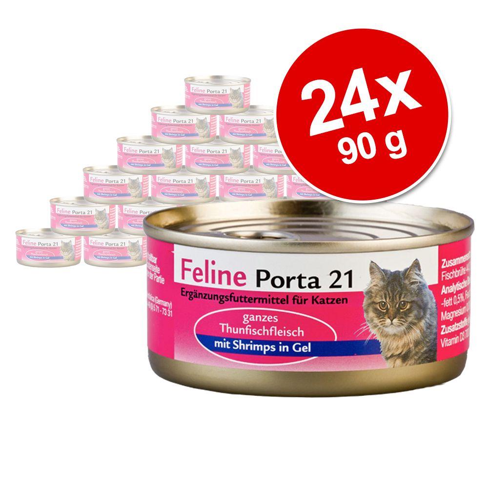 Megapakiet Feline Porta 21, 24 x 90 g - Kurczak w sosie własnym