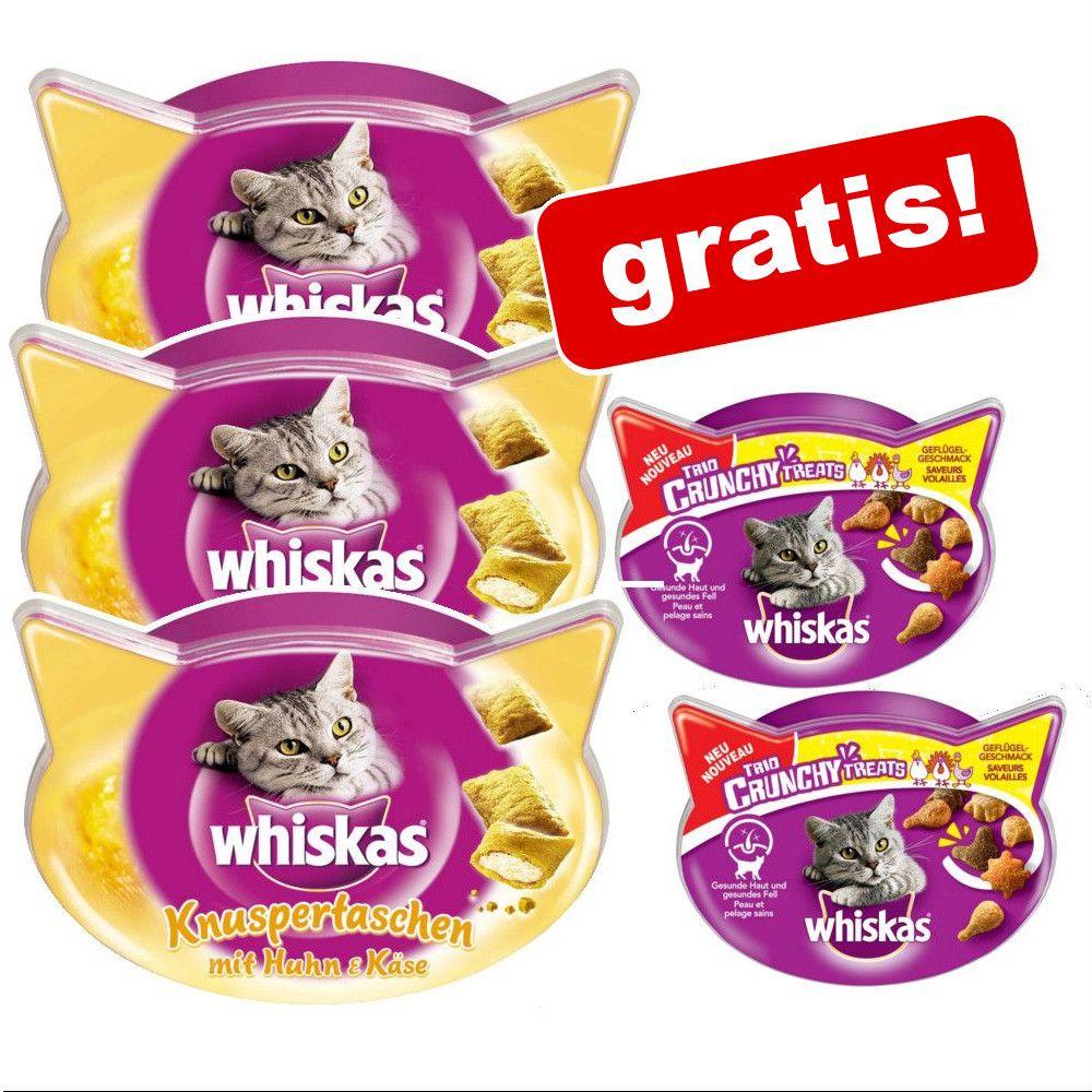 8 x 72 g Whiskas Temptations + 2 x Trio Crunchy på köpet! - Temptations Lax + Trio Crunchy Fisk
