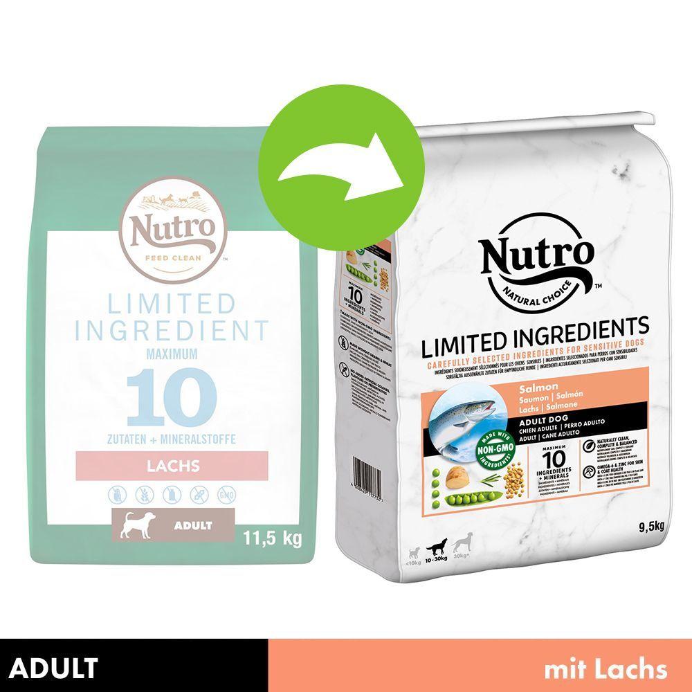 Nutro Limited Ingredient Adult Hund Lachs  - 9,5 kg