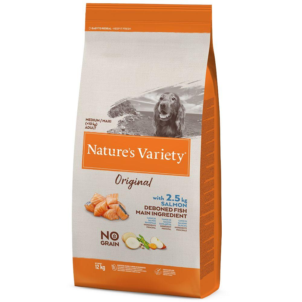 Nature's Variety Original No Grain Medium Adult Salmon - Ekonomipack: 2 x 12 kg