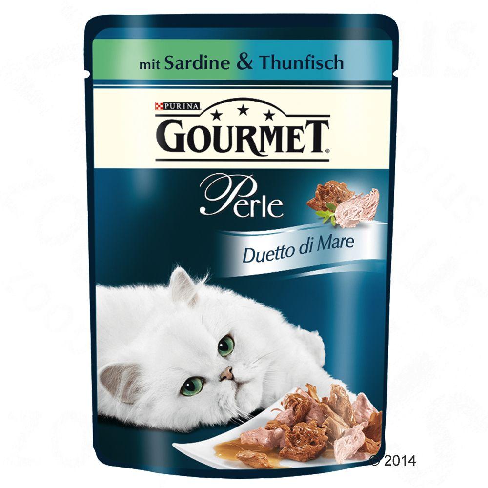 Pakiet Gourmet Perle Seaside Duo, 24 x 85 g - Łosoś i czarniak