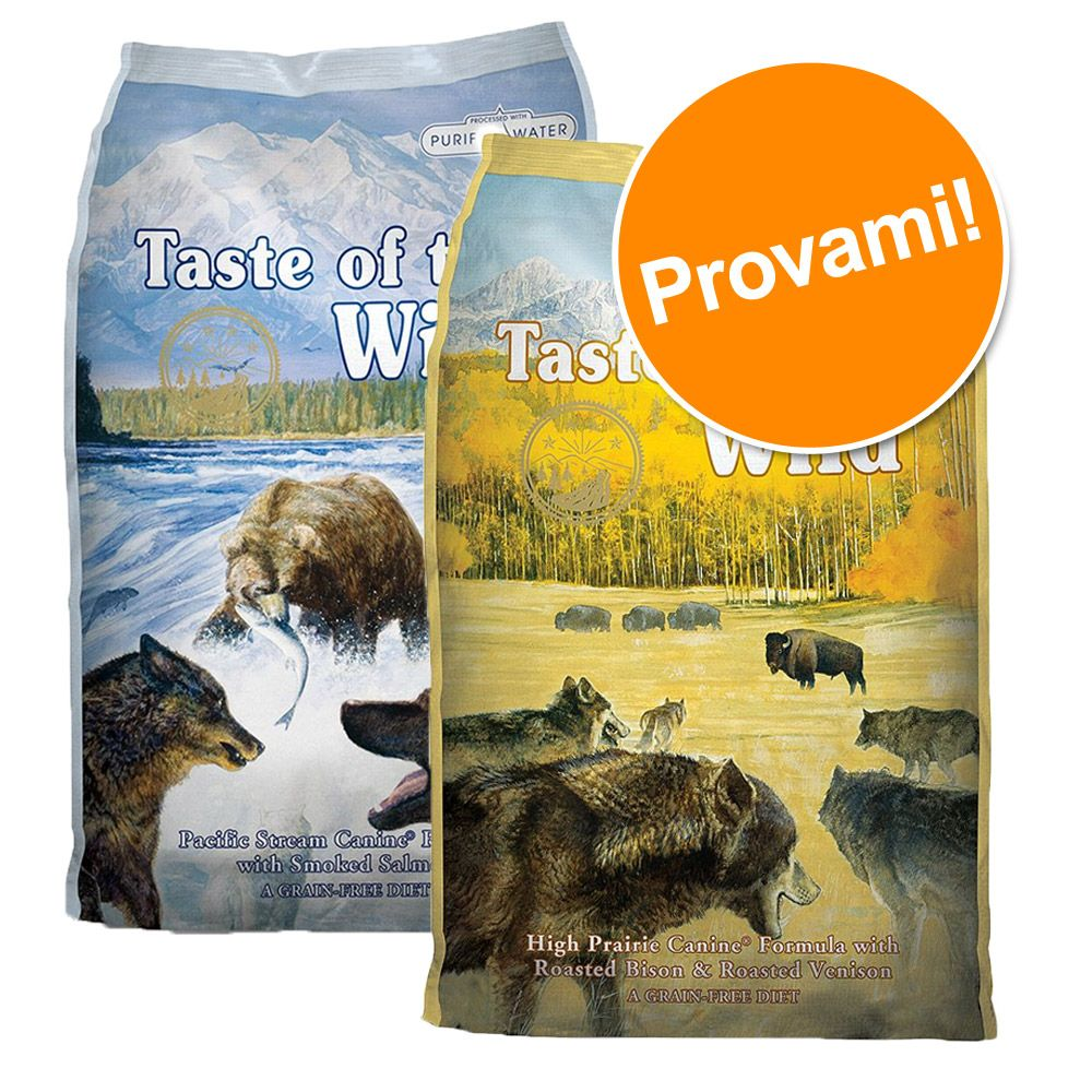 Foto Set prova misto! 2 x 6 kg Taste of the Wild - Pacific Stream + Sierra Mountain