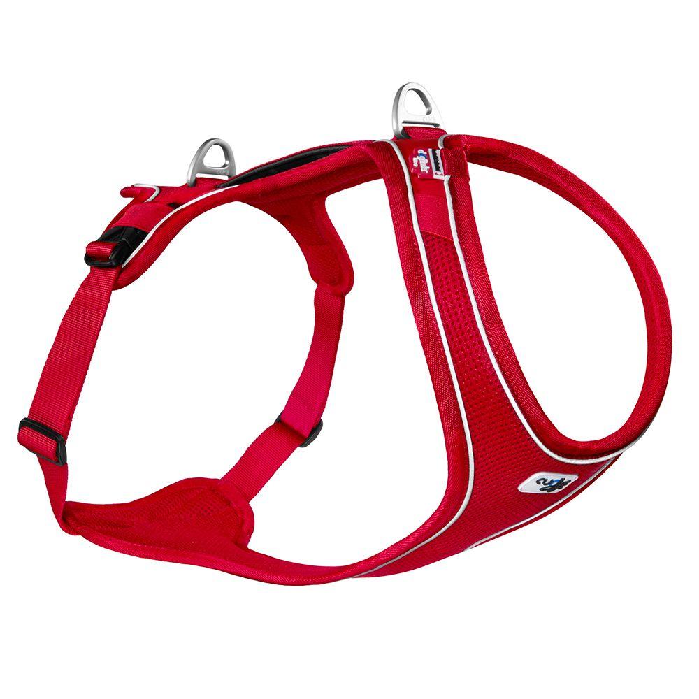 Curli Belka Comfort Geschirr - rot - Größe L: Brustumfang 70 - 76 cm