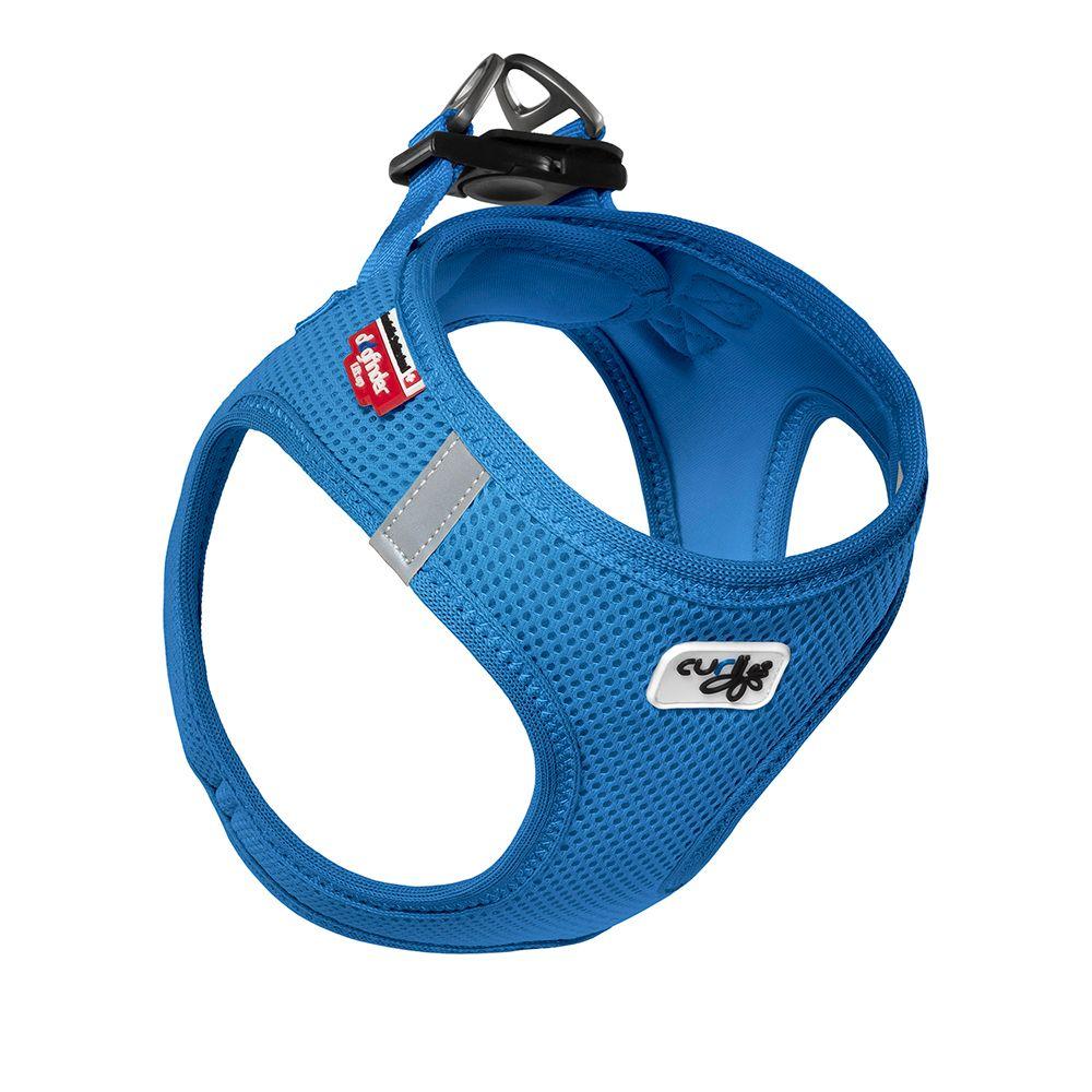 Curli Vest Geschirr Air-Mesh - blau - Größe S: 40 - 45 cm Brustumfang