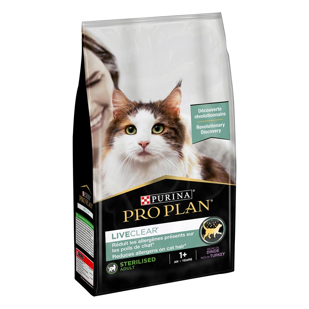 Pro Plan LiveClear Sterilised Adult Turkey - Ekonomipack: 2 x 1,4 kg