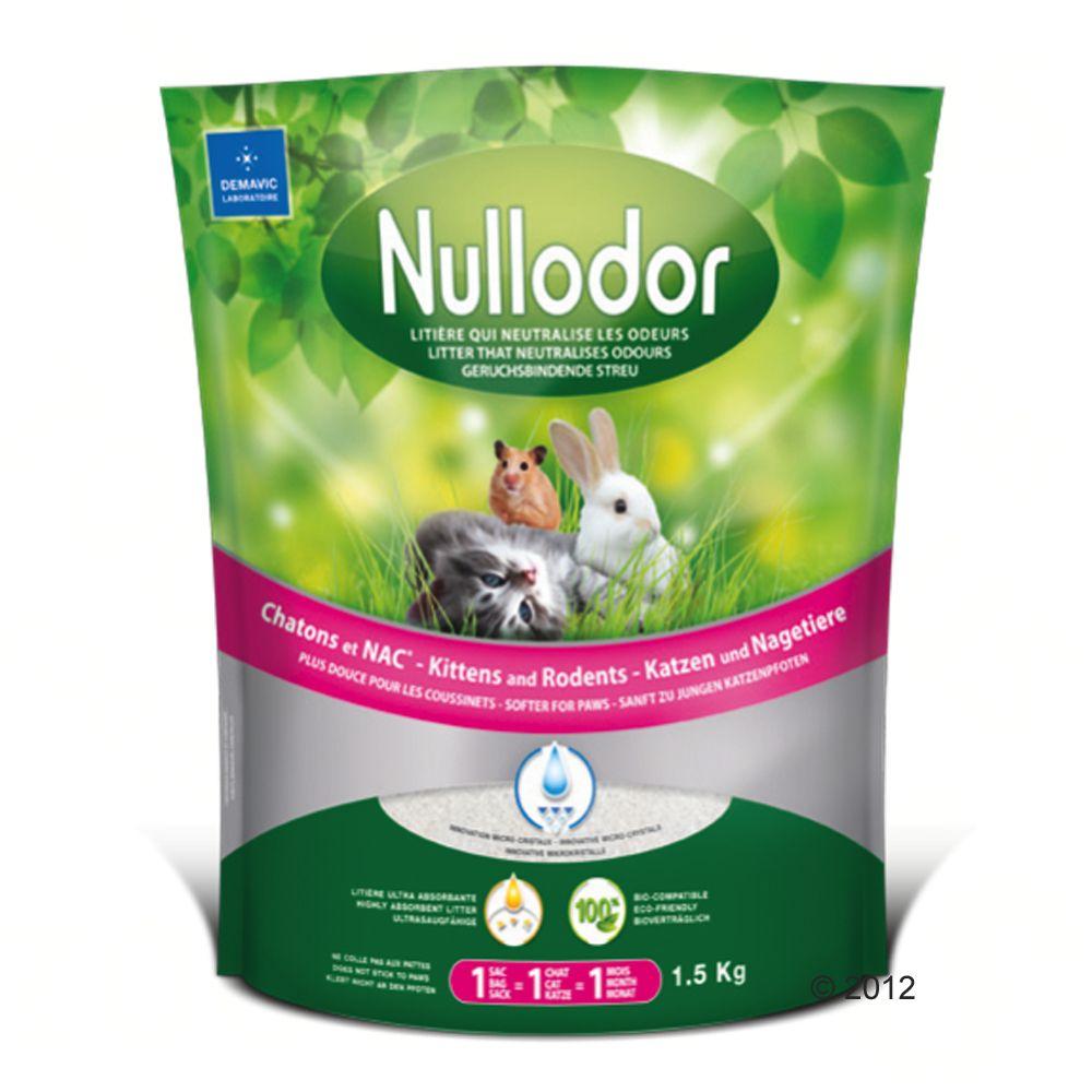 Nullodor Silikatstreu für Katzen und Kleintiere - 1,5 kg