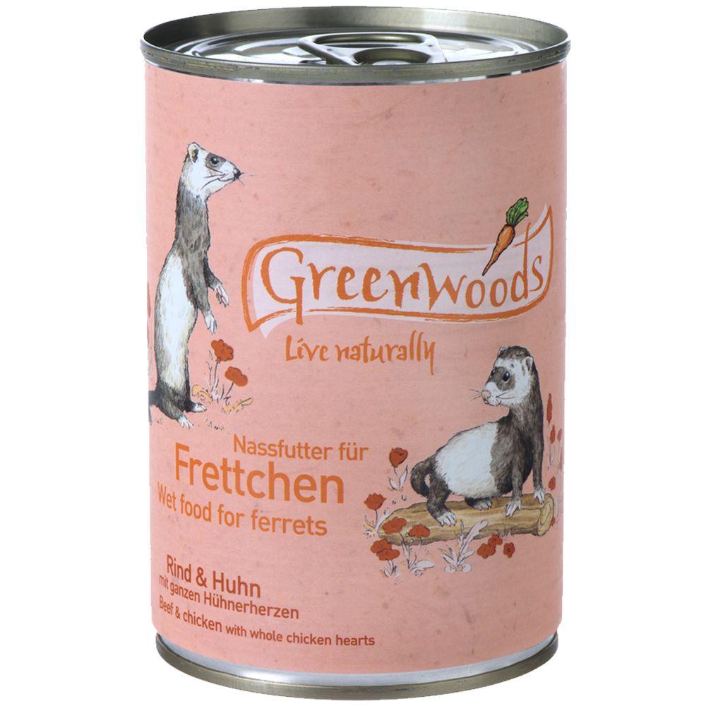 Greenwoods Nassfutter für Frettchen Rind & Huhn...