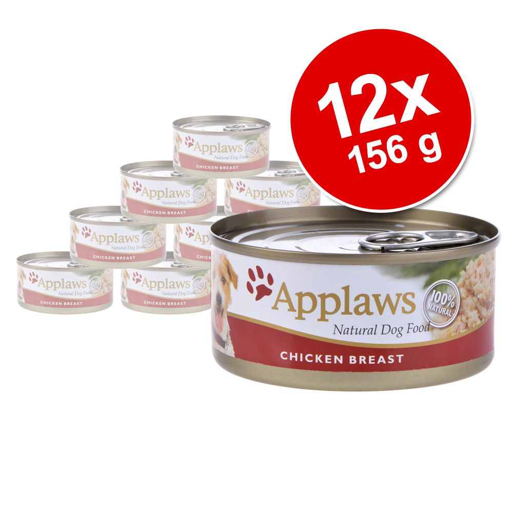Applaws hundfoder i buljong 12 x 156 g – Kyckling lax & grönsaker
