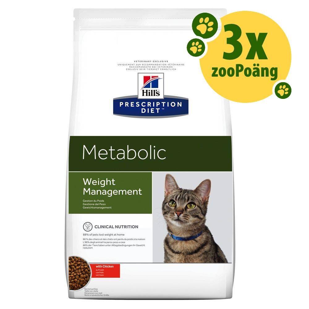 3x zooPoäng på Hill's Prescription Diet Metabolic/Urinary torrfoder - Metabolic Weight Management (8 kg)