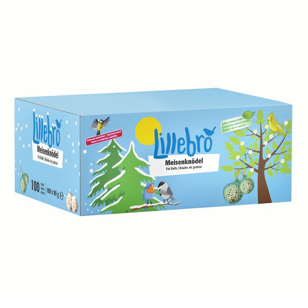 Lillebro Meisenknödel 100er mit oder ohne Netz im Karton - 100 St. à 90 g mit Netz