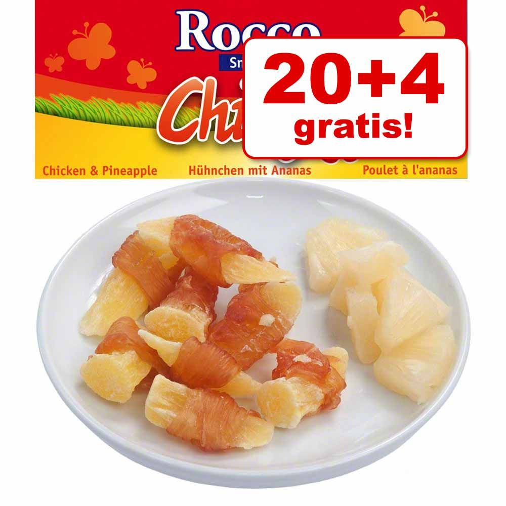 Foto 20 + 4 gratis! 24 x 70 g Rocco Chings Estate - Pollo con Mango