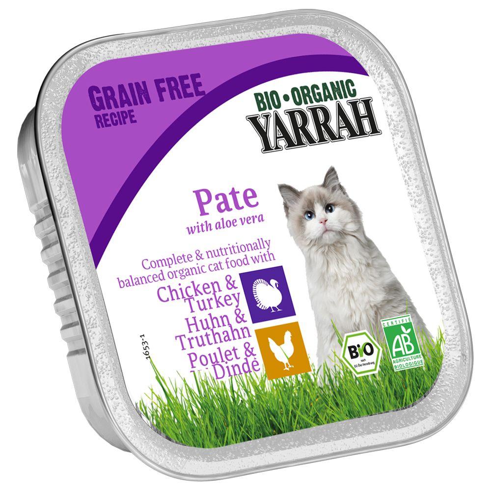 Yarrah Bio Pate 6 x 100 g - Huhn & Truthahn mit...