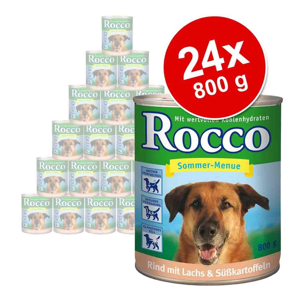 Megapakiet Rocco Menu, 24 x 800 g - Wołowina z warzywami i ryżem